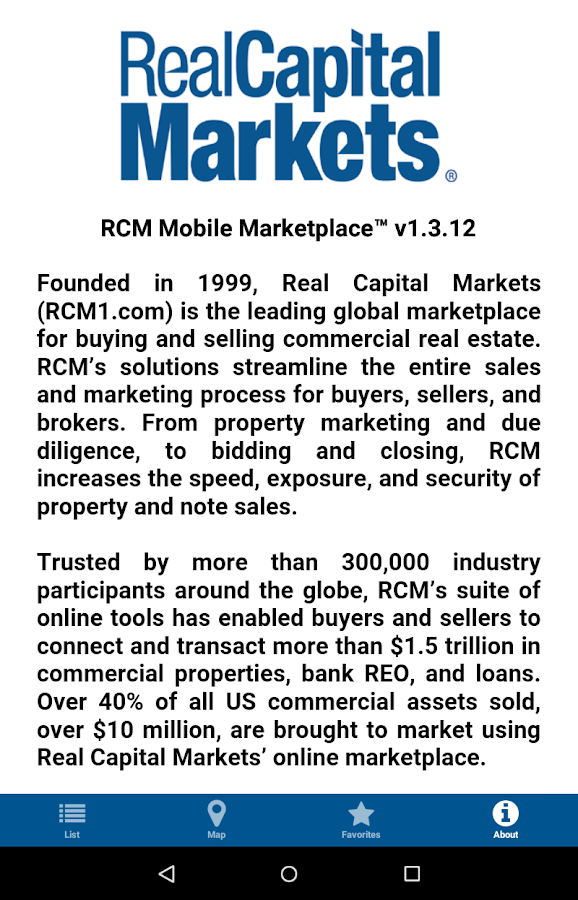RCM Mobile Marketplace- screenshot
