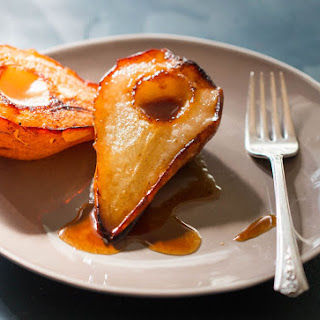 Ginger Roasted Caramelized Pears Recipe