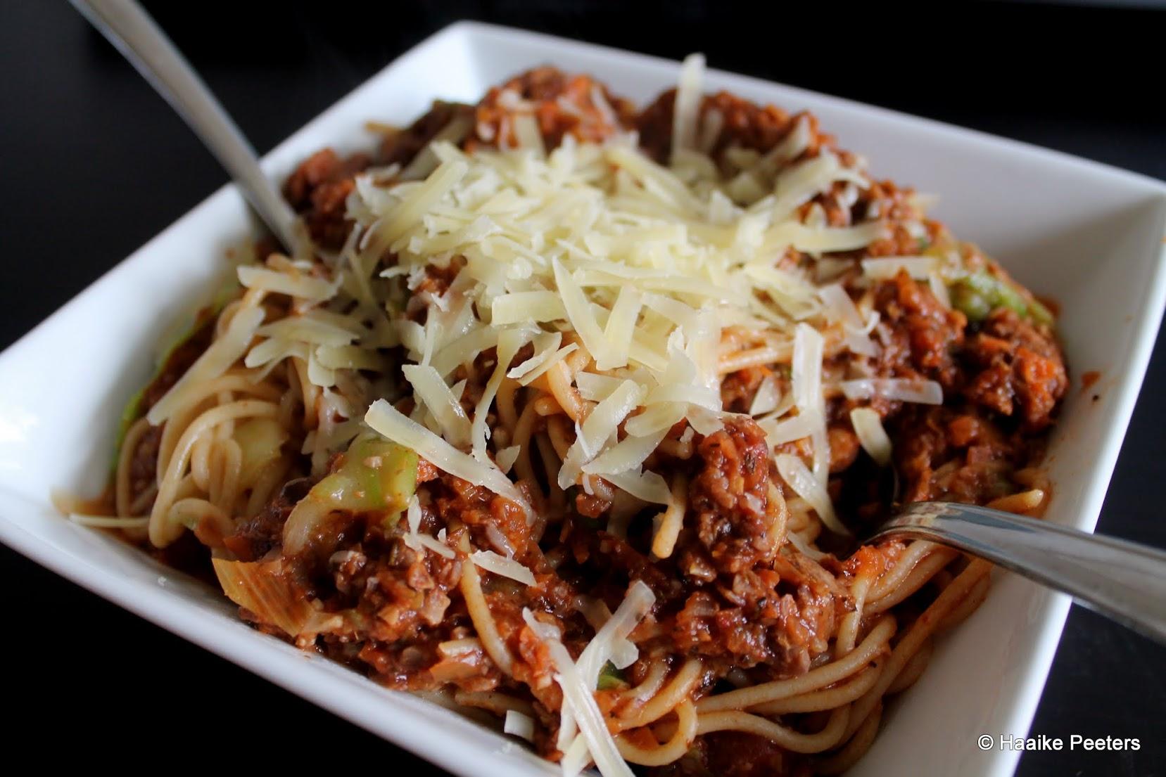 Vegetarische spaghetti (aMuse Rouge)