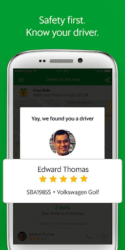 Grab - Cars, Bikes & Taxi Booking App  3