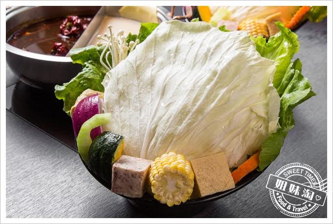 舞古賀鍋物專門店菜盤