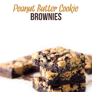 Peanut Butter Cookie Brownie Bars