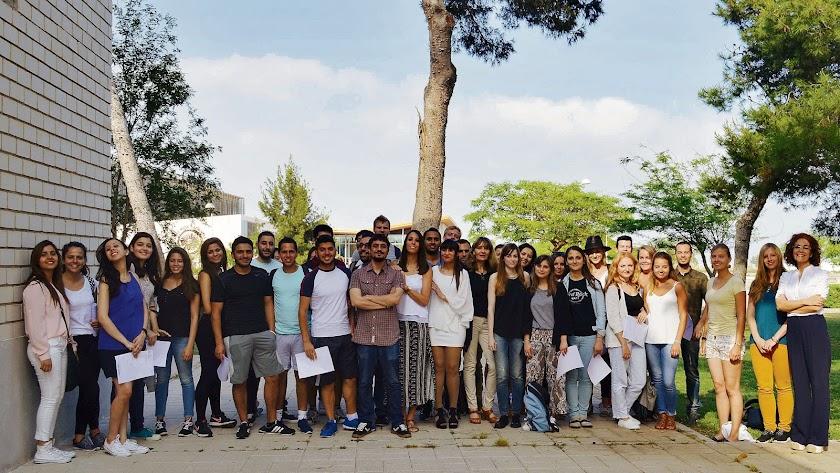 Alumnos del Centro de Lenguas de la UAL.