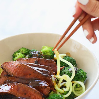 Spiralized Shanghai Beef and Broccoli.