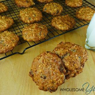 Healthy Almond Oatmeal Raisin Cookies (Gluten-free).