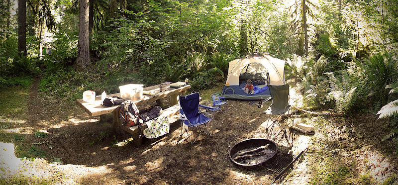 Photo: Camping near Cougar reservoir, OR