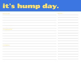 Hump Day Planner - Daily Planner item