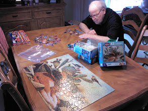 Photo: 300 piece puzzle and Bill with beard