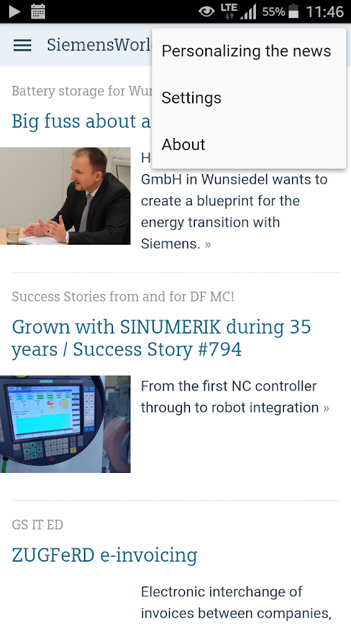 SiemensWorld- screenshot