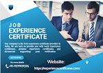 Genuine Experience Certificate Provider in Kochi, India