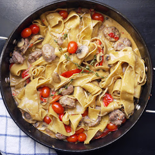 Pappardelle with Sausage Marsala