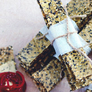 Swedish Sesame Crispbread [Vegan, Gluten-Free].