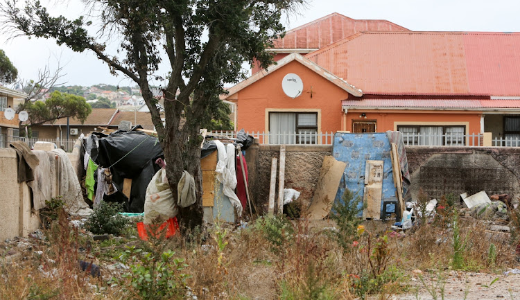 Homeless people have set up their shacks on an open field in North End, PE, where the old Park School used to be.