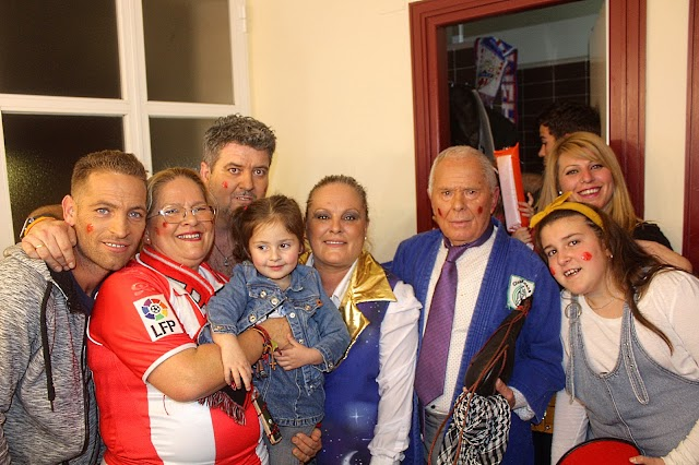 Con el más grande carnavalero, Juan Bisbal.