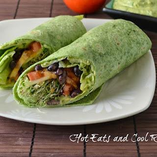 Veggie Wraps with Avocado Cream Sauce