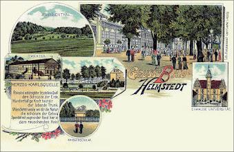 Photo: Grußkarte Bad Helmstedt, Brunnental