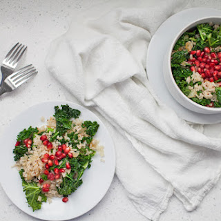 Spring Pomegranate Brown Rice Kale Salad Recipe