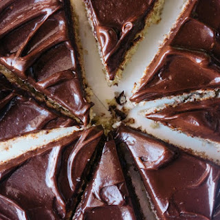 Hazelnut Cake with Chocolate Sour Cream Frosting.
