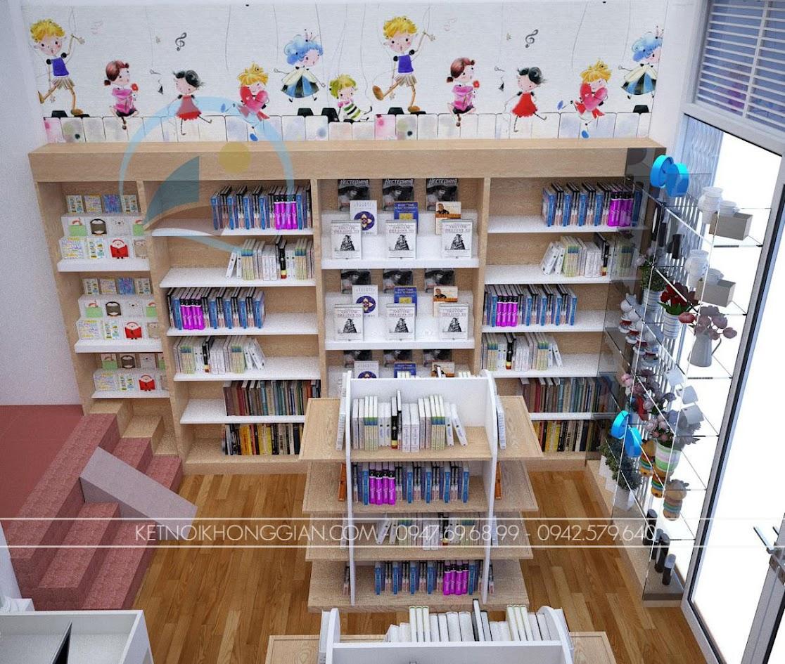 thiết kế nội thất nhà sách Dâu Tây 7