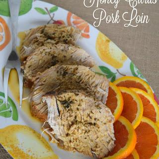 Honey Citrus Glazed Pork Loin.