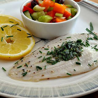 FISH with HERB BUTTER.