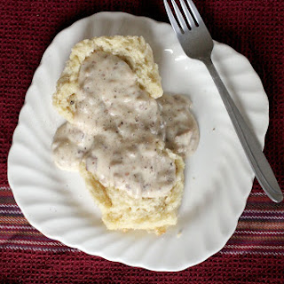 Buttermilk Biscuits with Pork Sausage Gravy