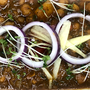 Chana Masala with Idli
