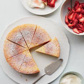 Ricotta-Orange Pound Cake with Prosecco Strawberries.