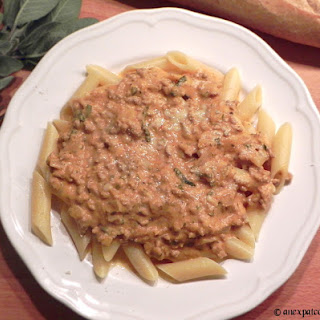 Penne and Sausage in a Pumpkin Cream Sauce