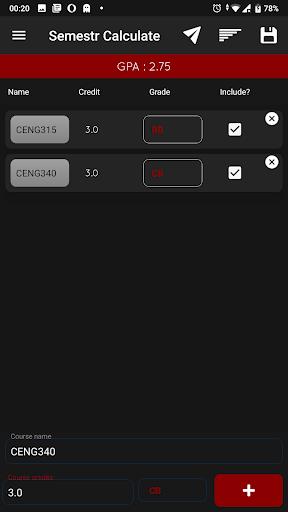 METU-ODTÜ GPA Calculator screenshot 3