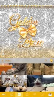 Golden-Bow-Kika-Keyboard-Theme 3