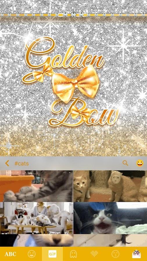 Golden-Bow-Kika-Keyboard-Theme 11