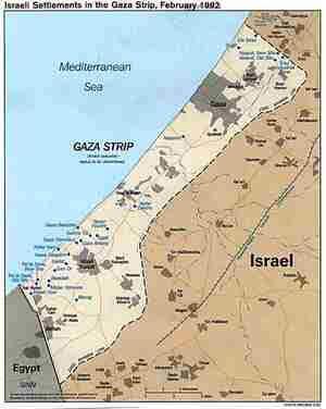 insediamenti israelini nella striscia di Gaza
