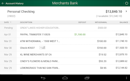 Merchants Bank- screenshot thumbnail