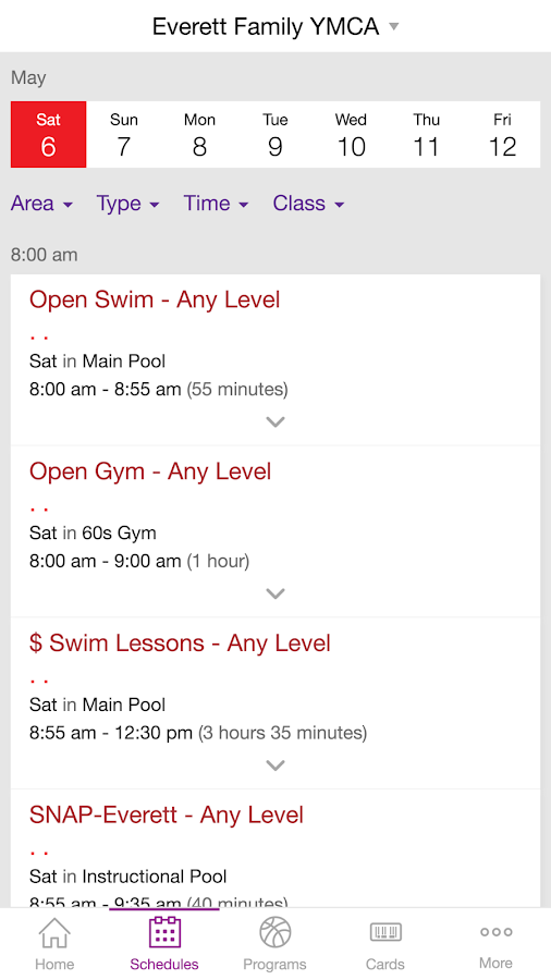 YMCA of Snohomish County- screenshot