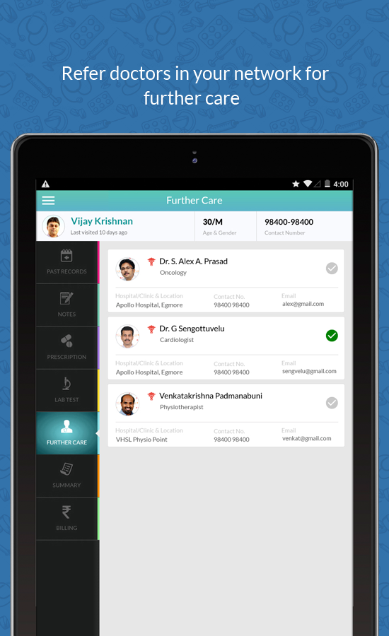 hCue Plus | Clinic Management Software | App- screenshot