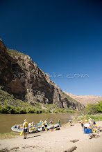 Photo: Whitewater rafting through the Gates of Lodore section of the Green River which flows through Dinosaur National Monument in northeastern Utah.