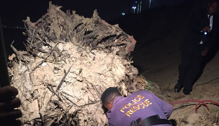A 21-year-old male was killed after a tree stump rolled on top of him while on Suncoast Beach in Durban.