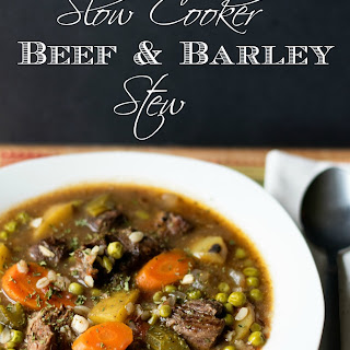 Perfect Slow Cooker Beef and Barley Stew
