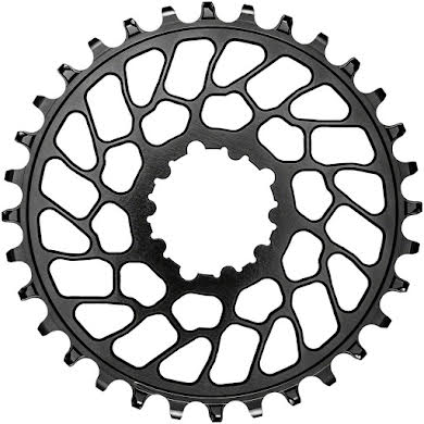 Absolute Black Round Narrow-Wide Direct Mount Chainring - SRAM 3-Bolt Direct Mount, 0mm Offset alternate image 1