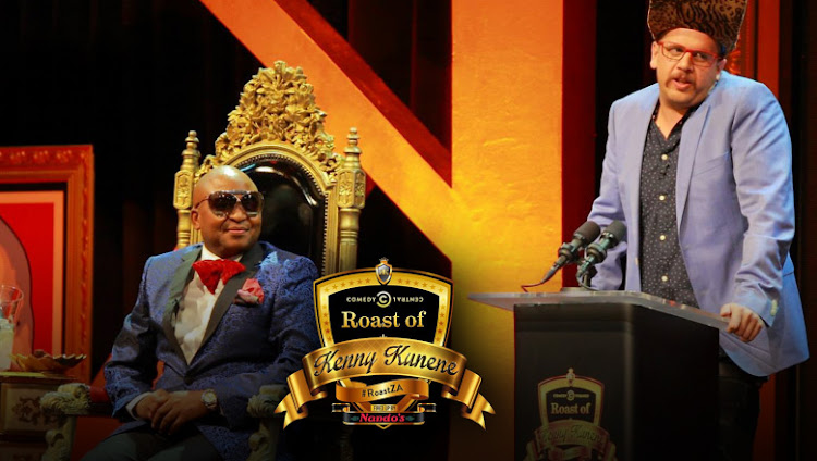 Roasting: Kenny Kunene (left) with Jack Parow.
