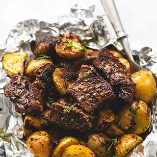 Garlic Steak and Potato Foil Packs.