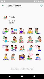 Telugu Friends Stickers