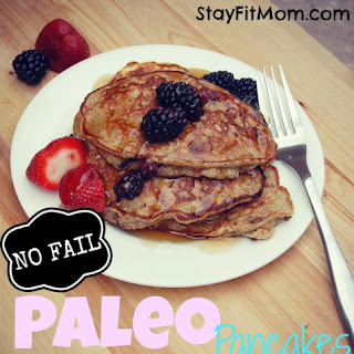 NO FAIL Paleo Pancakes; Gluten Free Recipe