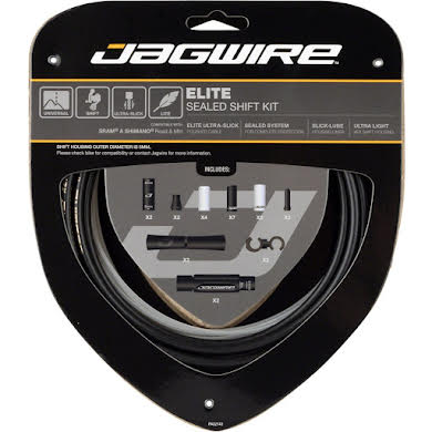 Jagwire Elite Sealed Shift Cable Kit SRAM/Shimano Ultra-Slick Uncoated Cables