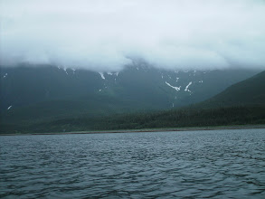 Photo: The Kakuhan Mountains east of Lynn Canal.