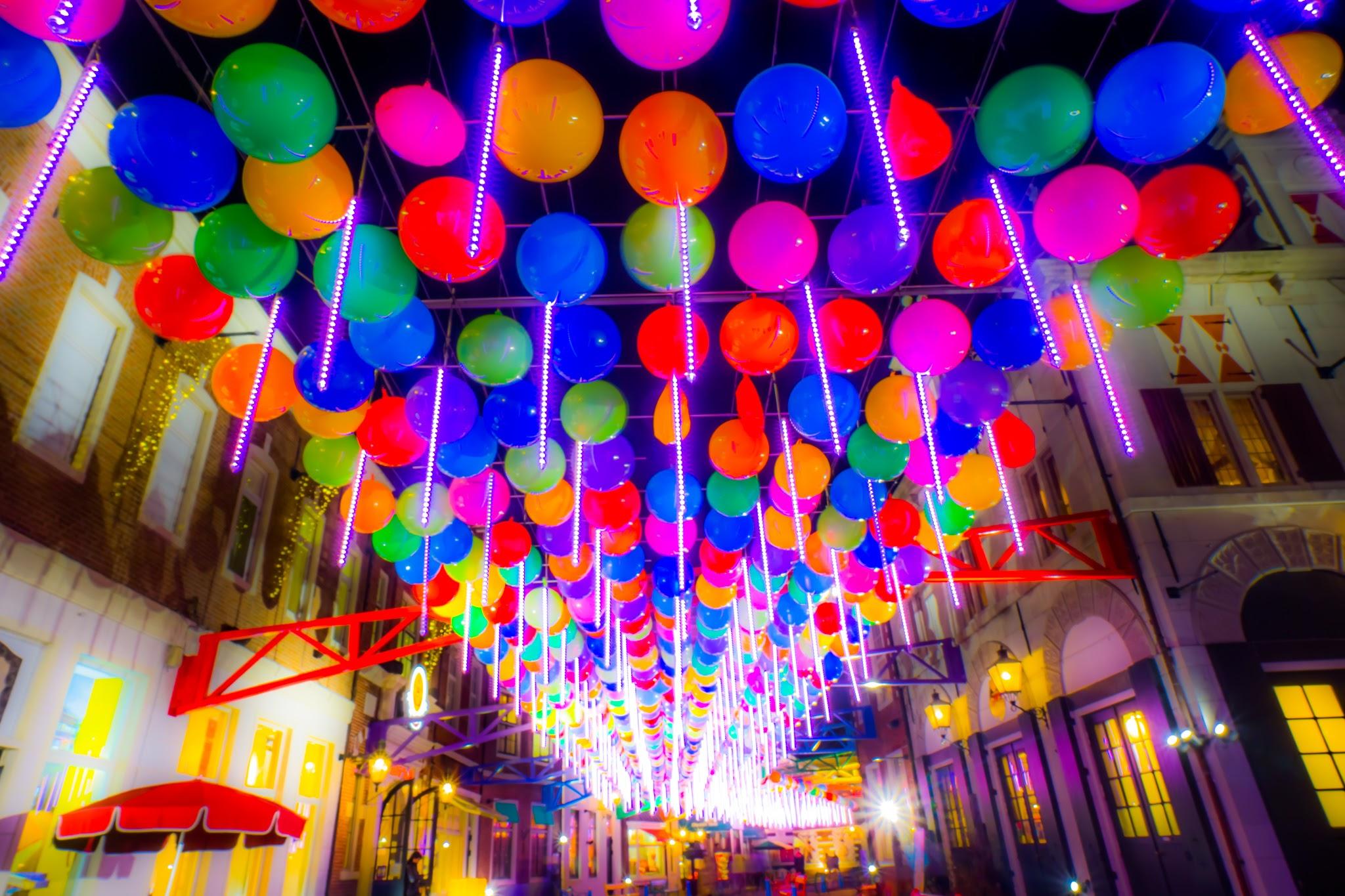 Huis Ten Bosch illumination Kingdom of light Happy balloon street1