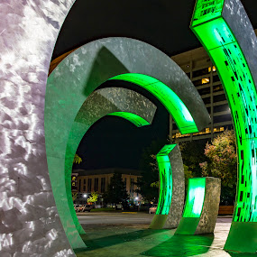 The Rings at Hotel 43 by Rachaelle Larsen - Buildings & Architecture Statues & Monuments ( idaho, hotel 43, boise, the rings, public artwork )