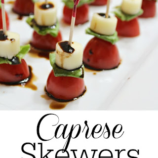 Caprese Skewers with Balsamic Reduction Drizzle Recipe