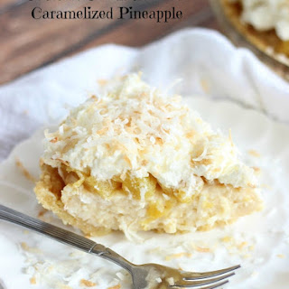 Coconut Cream Pie with Caramelized Pinapple and Coconut Whipped Topping